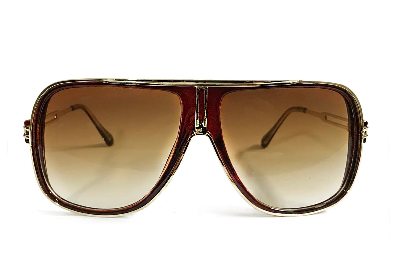 WINE and GOLD - BROWN SUNGLASSES